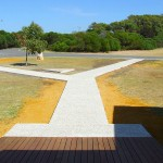 Concrete pathways for heritage building