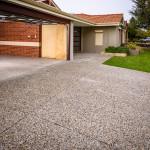 exposed aggregate driveway - warner brook concreting