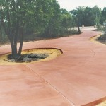 coloured concrete driveway - warner brook concreting
