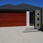 driveway using exposed concrete - warner brook concreting