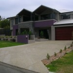 exposed aggregate concrete driveway - warner brook concreting