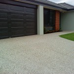 exposed aggregate home driveway