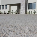exposed aggregate landing - warner brook concreting