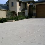 flagstone concrete driveway - warner brook concreting