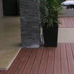 honed concrete entry - warner brook concreting