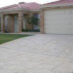 limestone concrete home driveway - warner brook concreting