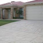 limestone concrete home driveway - warner brook concreting
