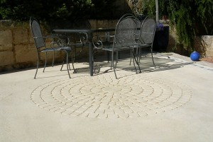 residentail limestone flooring - warner brook concreting